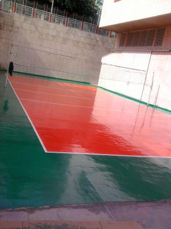 پروژه پلی یورتان زمین والیبال مرکز قلب تهران